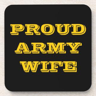 Coaster Set Proud Army Wife