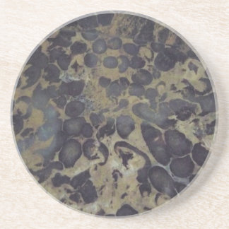 Coaster - Tan & Black Marble