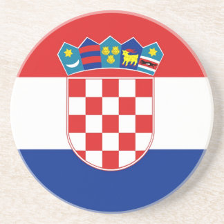 Coaster with Flag of Croatia