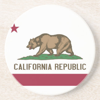 Coaster with Flag of the California, USA