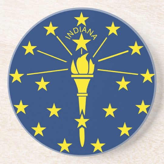 Coaster with Flag of the Indiana, USA