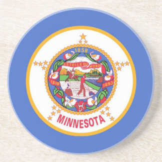 Coaster with Flag of the Minnesota, USA