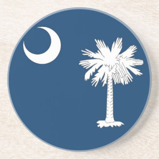 Coaster with Flag of the South Carolina, USA