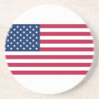Coaster with Flag of the USA