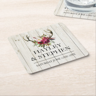 Coasters Antlers Rustic Stag Wedding Party