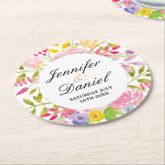 Coasters Flowers Wedding Floral Event Drinks Party