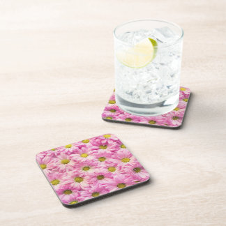Coasters - Hard Plastic - Pink Gerbera Daisies