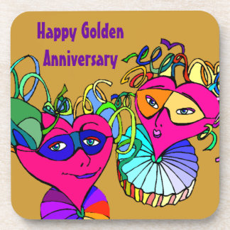 Coasters Hearts Couple Golden Anniversary Party
