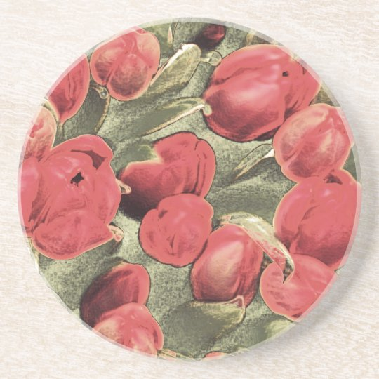 Coasters, Red Tulips, Decorative Art Coaster