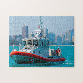Coastguard Boat. Jigsaw Puzzle