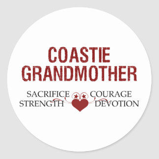 Coastie Grandmother Sacrifice, Strength, Courage Classic Round Sticker