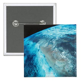 Coastline on Earth 2 Inch Square Button