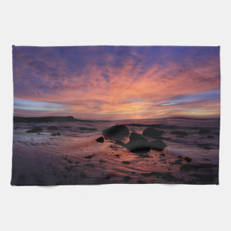 Coastline Sunrise Kitchen Towel