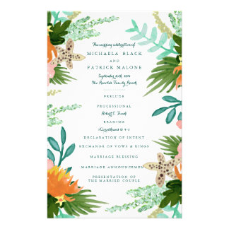 Coastline Wedding Programs