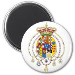 Coat  Arms Kingdom of Two Sicilies Official Italy 2 Inch Round Magnet