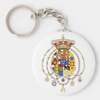 Coat  Arms Kingdom of Two Sicilies Official Italy Keychain
