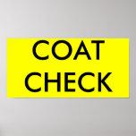 COAT CHECK PRINT