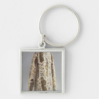 Coat, from Iran, Safavid, c.1600 Silver-Colored Square Keychain