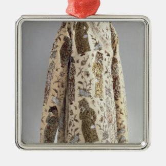 Coat, from Iran, Safavid, c.1600 Silver-Colored Square Ornament