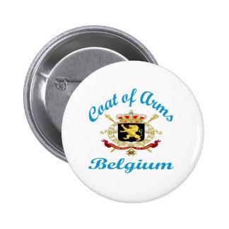 Coat Of Arms Belgium Button