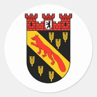 Coat of arms Berlin Reinickendorf Classic Round Sticker