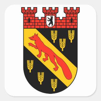 Coat of arms Berlin Reinickendorf Square Sticker