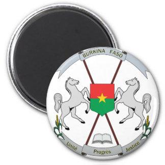 Coat of Arms Burkina Faso - Armoiries Burkina Faso 2 Inch Round Magnet