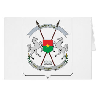 Coat of Arms Burkina Faso - Armoiries Burkina Faso Card