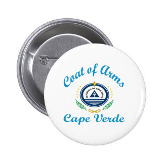 Coat Of Arms Cape Verde Pinback Buttons