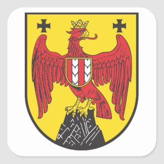 Coat of arms castle country Austria Square Sticker