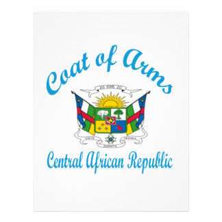Coat Of Arms Central African Republic Personalized Letterhead