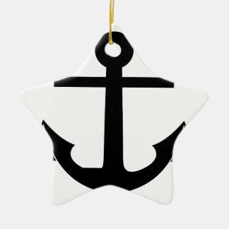 Coat Of Arms Crest Flag Swiss Key Emblem Anchor Ceramic Ornament