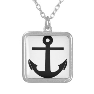 Coat Of Arms Crest Flag Swiss Key Emblem Anchor Silver Plated Necklace