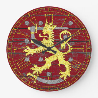 Coat of arms Finland Your Color Wood Large Clock