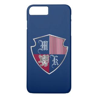 Coat of Arms Monogram Emblem Silver Lion Shield Case-Mate iPhone Case