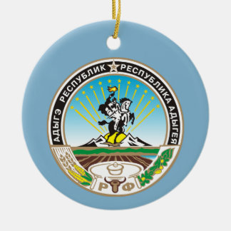 Coat of arms of Adygea Ceramic Ornament