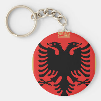 Coat of Arms of Albania Basic Round Button Keychain