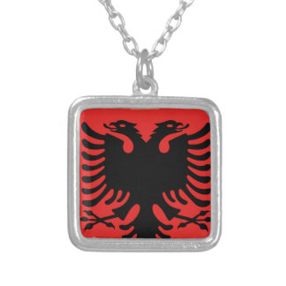 Coat of Arms of Albania Silver Plated Necklace