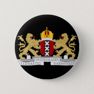 Coat of arms of Amsterdam 2 Inch Round Button