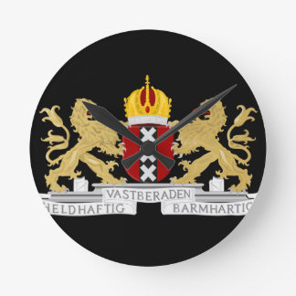 Coat of arms of Amsterdam Wall Clock