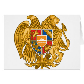 Coat of arms of Armenia - Armenian Emblem Card