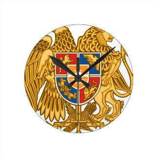 Coat of arms of Armenia - Armenian Emblem Round Clock