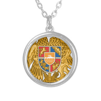 Coat of arms of Armenia - Armenian Emblem Silver Plated Necklace