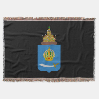 Coat of arms of Astrakhan oblast Throw Blanket