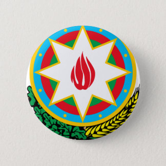 Coat of Arms of Azerbaijan - Азәрбајҹан герби 2 Inch Round Button