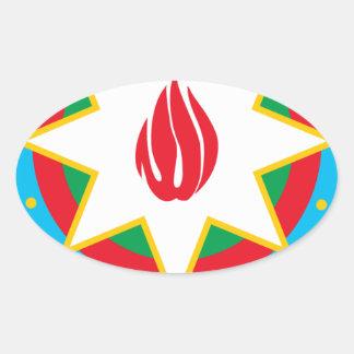 Coat of Arms of Azerbaijan - Азәрбајҹан герби Oval Sticker