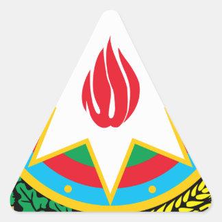 Coat of Arms of Azerbaijan - Азәрбајҹан герби Triangle Sticker