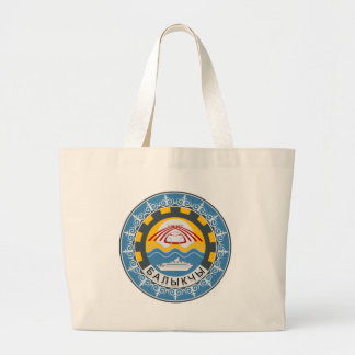Coat_of_arms_of_Balykchy_Kyrgyzstan Large Tote Bag