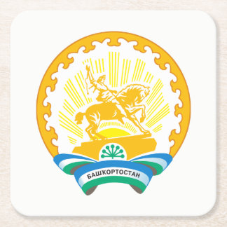 Coat of arms of Bashkortostan Square Paper Coaster