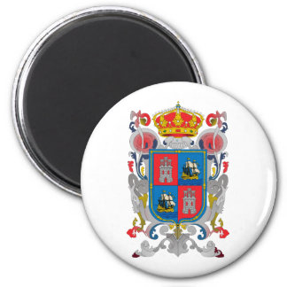 Coat of arms of Campeche Mexico Official Symbol 2 Inch Round Magnet